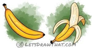 How to draw a banana: step-by-step drawing tutorial featured image