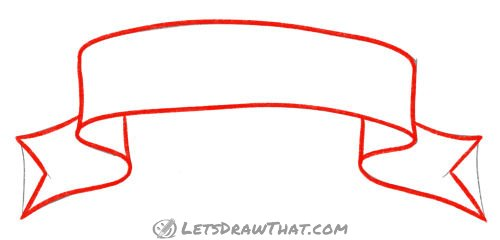 Drawing step:  Outline the banner