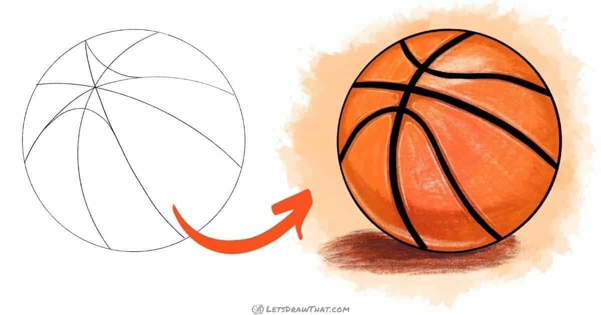 How to draw a basketball - step-by-step drawing tutorial