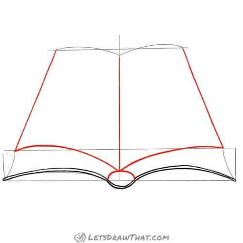 Draw the book pages