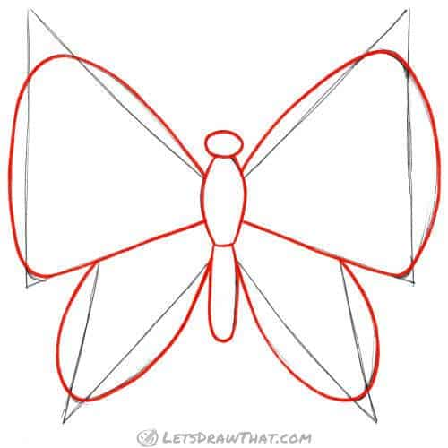 Outline the butterfly
