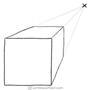 Cube in a 1 point perspective