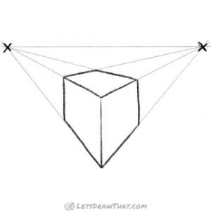 Cube in a 2 point perspective