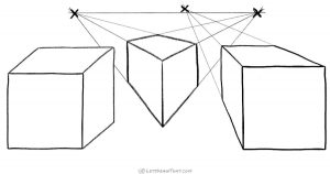 How to draw a cube: 3 different ways and perspectives - step by step drawing tutorial