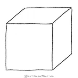 Cube in a simple 3D view