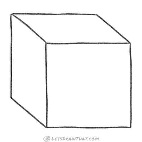 How to draw a cube in simple 3D view