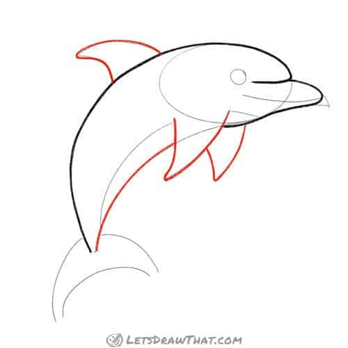 Drawing step: Draw the fins