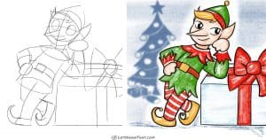 How to draw an elf in a simple cartoon style: step by step drawing tutorial