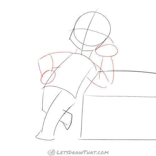 Drawing an elf - sketch the arms and hands