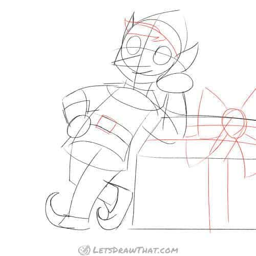 Drawing step: Sketch the final details