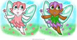 How to draw a fairy in a cute chibi style - step-by-step-drawing tutorial featured image