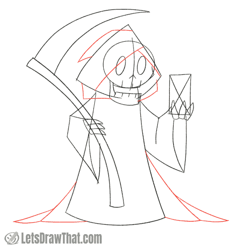 Drawing step: Improve the robes and hood
