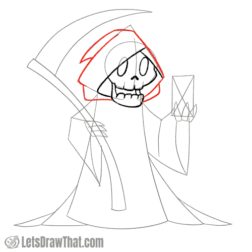 Drawing step: Draw the hood
