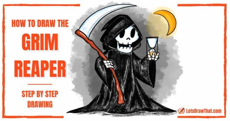 How To Draw The Grim Reaper - step-by-step-drawing tutorial featured image