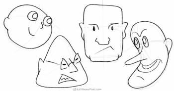 How to draw heads from simple shapes - step-by-step-drawing tutorial featured image