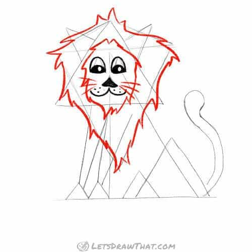 How to draw a lion's mane - draw the mane