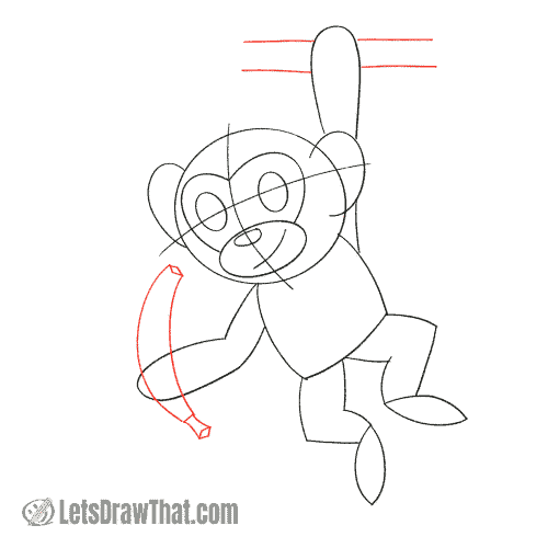 Drawing step: Something to hang on