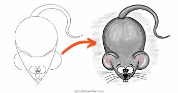 Easy Mouse Drawing (Step by Step) - step-by-step-drawing tutorial featured image