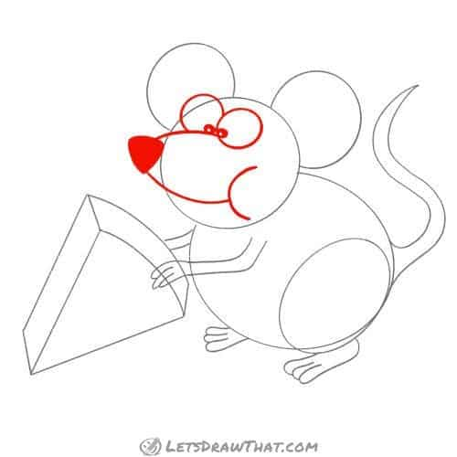 Drawing step: Draw the mouse's face