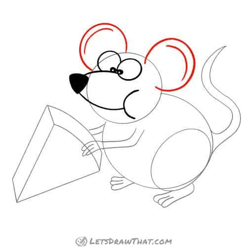 Drawing step: Draw the mouse's ears