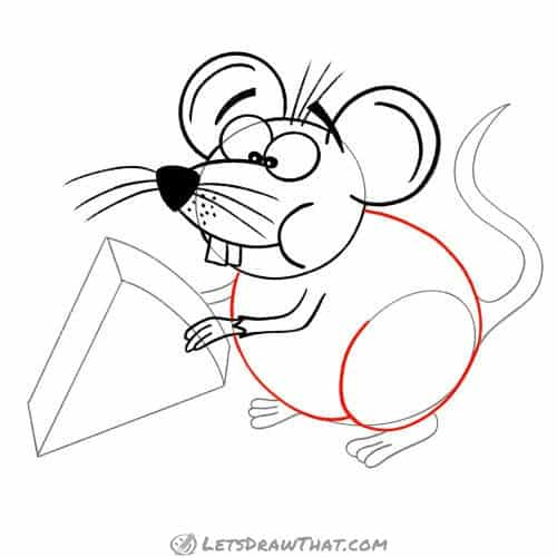 Drawing step: Draw the mouse's body