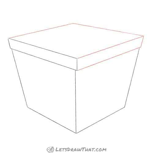 Drawing step: Finish the lid