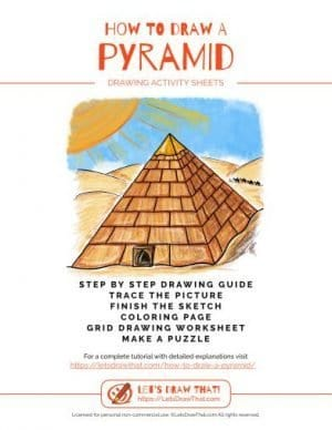 How to draw a pyramid - drawing book