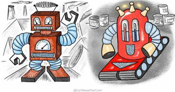 How to draw a robot: 2 different easy ways - step-by-step-drawing tutorial featured image