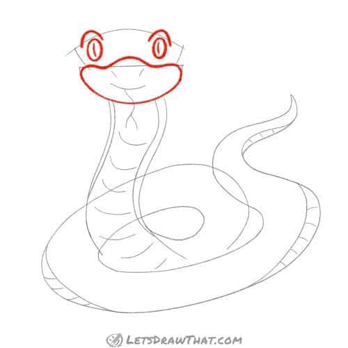 Drawing step: Draw the snake's head