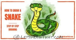 How to draw a snake in ssseveral sssimple sssteps - step-by-step-drawing tutorial featured image