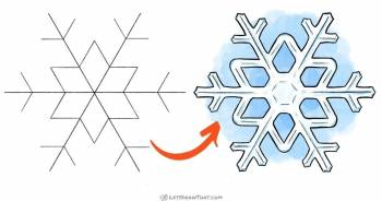 How to draw a snowflake - easy yet graceful - step-by-step-drawing tutorial featured image