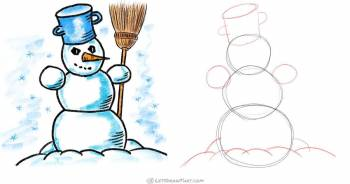 How To Draw A Snowman: An Awesome Snowman Drawing Step-by-Step - step-by-step-drawing tutorial featured image