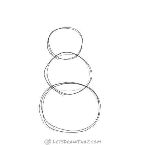 Draw three circles
