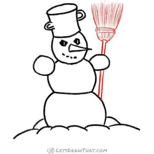 Give our snowman a broom
