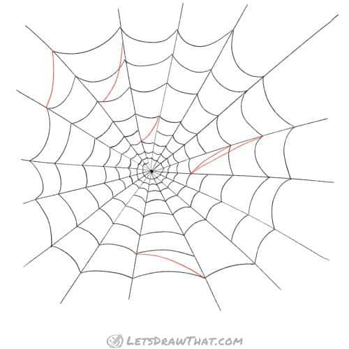 Close the spider web and add some patch threads