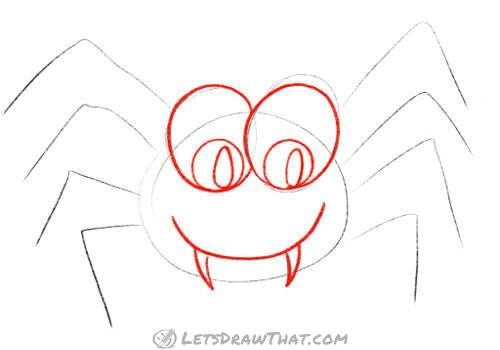 Draw the spider's face