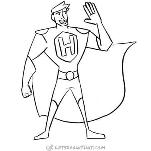How to draw a superhero: drawing step by step - Let's Draw ...