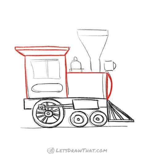 Draw the body of the locomotive