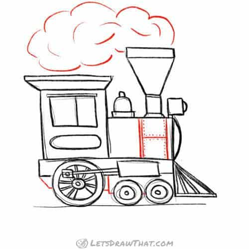 Dress up the locomotive with some final details