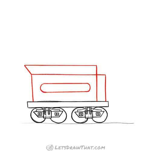 Draw the body of the coal car